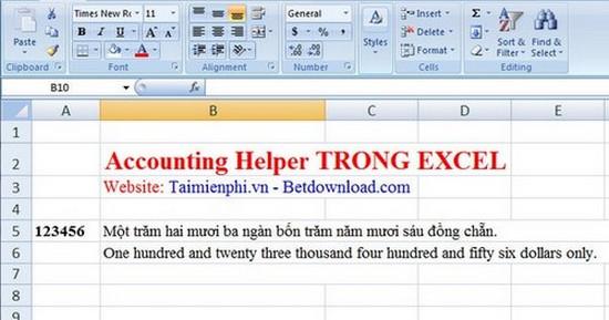 Thủ thuật kế toán - Plugin biến số thành chữ hỗ trợ luôn tiếng anh cho Word 2003, 2007, 2010, 2013, 2016